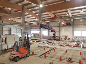 Stahlbau, Podest, Unterbau, Stahlkonstruktion